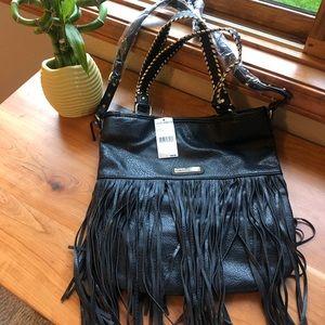 Black Steve Madden Fringe Handbag